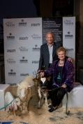 David Keaton, one of the most loyal Heifer volunteers with Actress (donor and volunteer) Marianne Muerllerleille